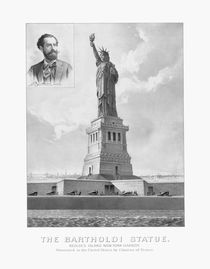 Statue of Liberty And Bartholdi Portrait von warishellstore