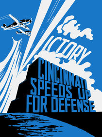 Cincinnati Speeds Up For Defense -- WWII Poster by warishellstore