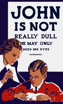 John Is Not Really Dull -- WPA Print by warishellstore