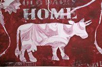Kuh auf Rot von Marie-Nathalie Kröss