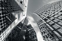 Tanzende Türme  Hochhäuser Hamburg  von Klaus Tetzner