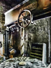 Radial Drill Press In Machine Shop by Susan Savad