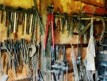 Wall of Tools and Shop Apron by Susan Savad