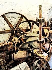 Wheels and Gears in Grist Mill von Susan Savad