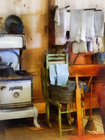 Laundry Drying in Kitchen by Susan Savad