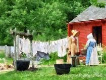 Neighbors Gossiping on Washday by Susan Savad
