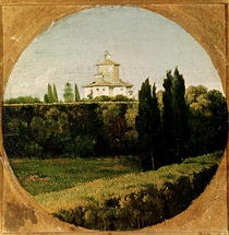 View of the Villa Medici von Jean Auguste Dominique Ingres