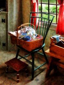 Basket of Cloth and Yarn by Susan Savad