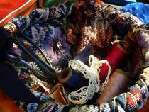 Basket of Crocheting and Thread von Susan Savad