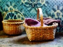 Basket With Knitting by Susan Savad