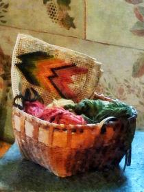 Basket of Yarn and Tapestry von Susan Savad