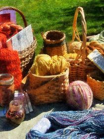 Baskets of Yarn at Flea Market by Susan Savad