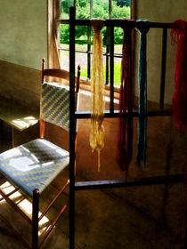Hanging Skeins of Yarn by Susan Savad