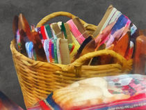 Ribbons in Basket by Susan Savad