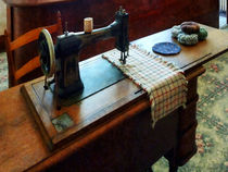 Sewing Machine and Pincushions by Susan Savad