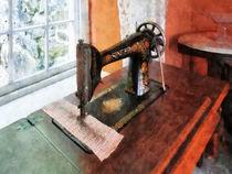 Sewing Machine Near Lace Curtain von Susan Savad