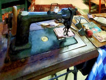 Sewing Machine With Sissors by Susan Savad