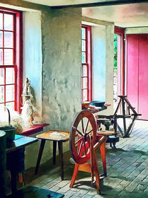 Spinning Wheel Near Window by Susan Savad