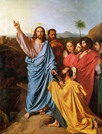 Jesus Returning the Keys to St. Peter von Jean Auguste Dominique Ingres