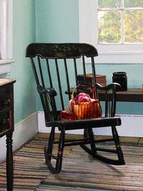 Basket of Yarn on Rocking Chair by Susan Savad