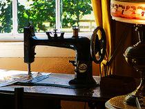 Sewing Machine and Lamp by Susan Savad