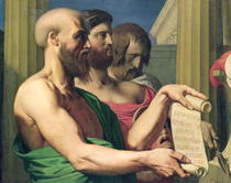 The Greek Tragedians von Jean Auguste Dominique Ingres