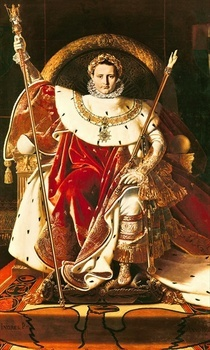 Napoleon I  by Jean Auguste Dominique Ingres