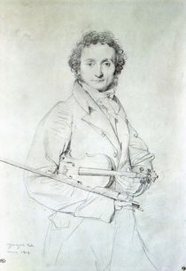 Portrait of Niccolo Paganini  von Jean Auguste Dominique Ingres