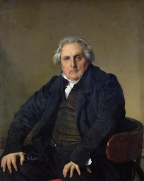 Louis-Francois Bertin  by Jean Auguste Dominique Ingres