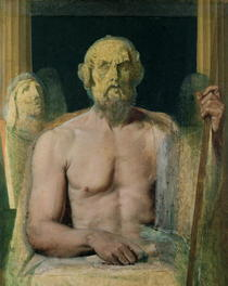 Homer, study for The Apotheosis of Homer von Jean Auguste Dominique Ingres