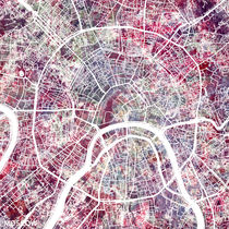 Moscow map by Map Map Maps