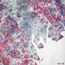 Tokyo map by Map Map Maps