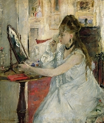 Young Woman Powdering her Face by Berthe Morisot