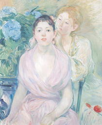 The Hortensia, or The Two Sisters by Berthe Morisot