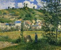 Landscape at Chaponval von Camille Pissarro