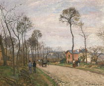 The Road from Louveciennes von Camille Pissarro