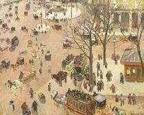 Place du Theatre Francais von Camille Pissarro