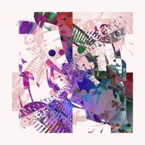 Abstraktes Wandbild pink von Christine Bässler