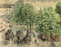 Place du Theatre-Francais, Spring von Camille Pissarro