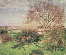 Autumn morning at Eragny von Camille Pissarro