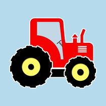 Red toy tractor by Gaspar Avila