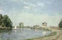 At the River`s Edge by Camille Pissarro