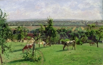 Hillside of Vesinet, Yvelines von Camille Pissarro
