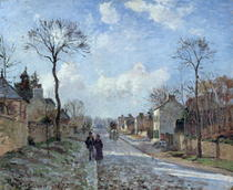 The Road to Louveciennes von Camille Pissarro