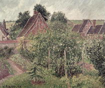 Landscape with Cottage Roofs von Camille Pissarro