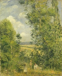 A Rest in the Meadow von Camille Pissarro