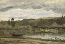 Ferry at Varenne-Saint-Hilaire by Camille Pissarro