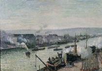 Saint-Sever Port, Rouen von Camille Pissarro