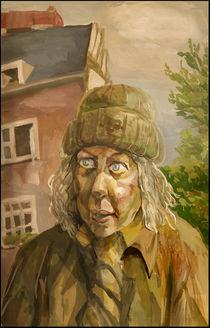 The old woman by Larisa Glushakova