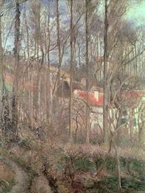 The Cote des Boeufs at L`Hermitage, Pontoise by Camille Pissarro